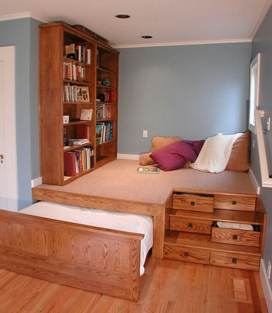 How awesome is this - a reading corner, bed and drawers all in one :)