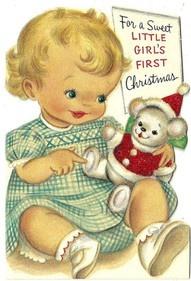 Sweet Girl's First Christmas #Baby #Christmas