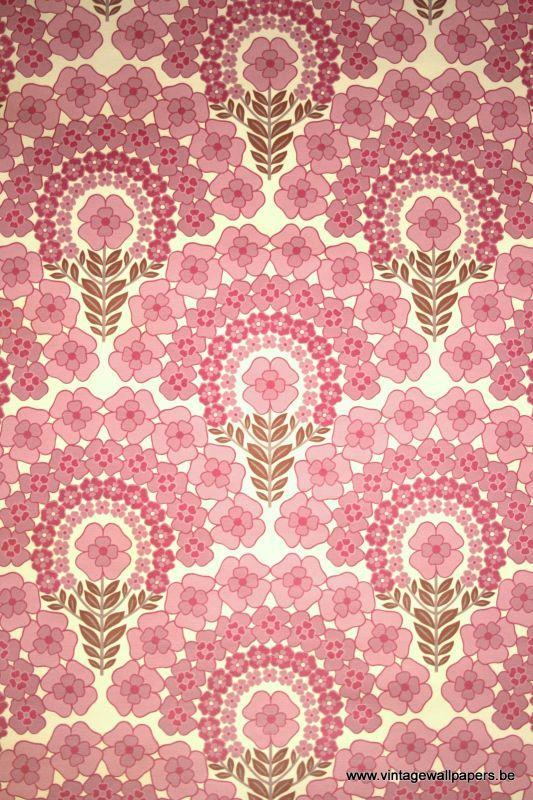 pink vintage wallpaper