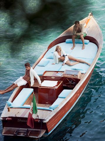 Ultimate lake/lounge boat #woodboat