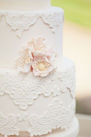 Beautiful vintage lace cake.