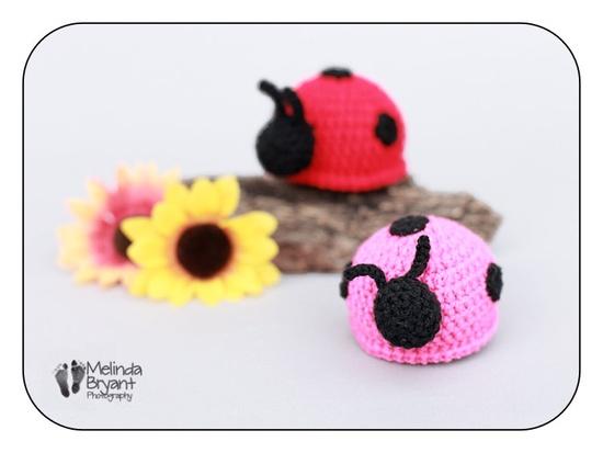 """Crochet Amigurumi Ladybug Rattle- PINK"" #Amigurumi  #crochet"