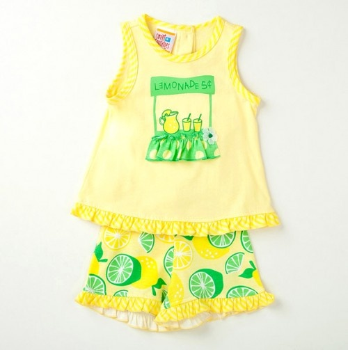 Infant Lemonade Summer Outfit.