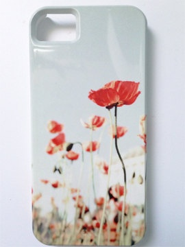 iPhone 4 Case, Floral iPhone 4 Case, Spring, Pastel,  Cute Iphone 4 Case, Poppy iPhone Case-Iphone 4 Case-Iphone 4s Case-. $35.00, via Etsy.