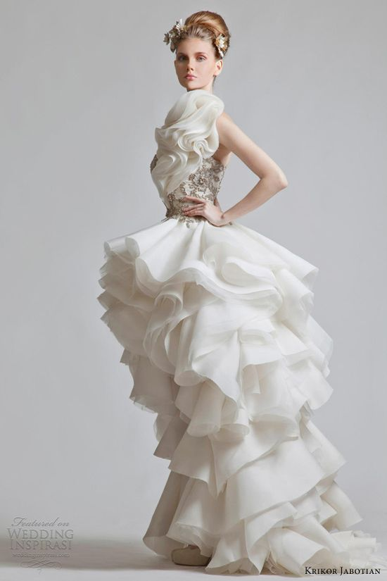 krikor jabotian wedding dress 2013 chapter one bridal collection ruffle gown