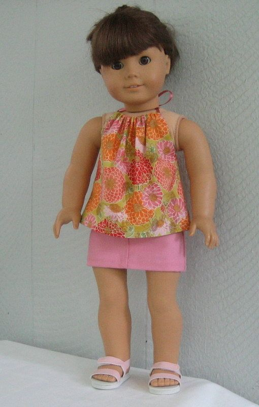 American Girl Doll 18 inch Floral Halter Top by LaniesCreations, $14.00