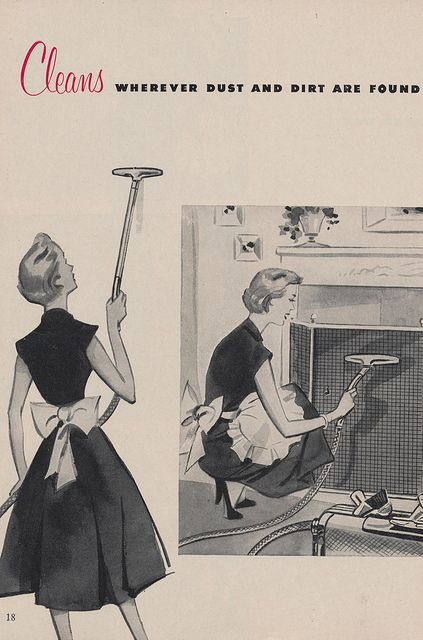 #vintage #1950s #ad #cleaning #homemaker