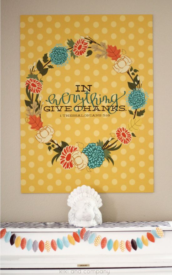 In Everything Give Thanks {Thanksgiving Print}