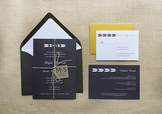 Modern Antler Monogram Wedding Invitations by DawnCorrespondence