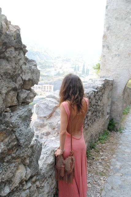 plunging summer dress.