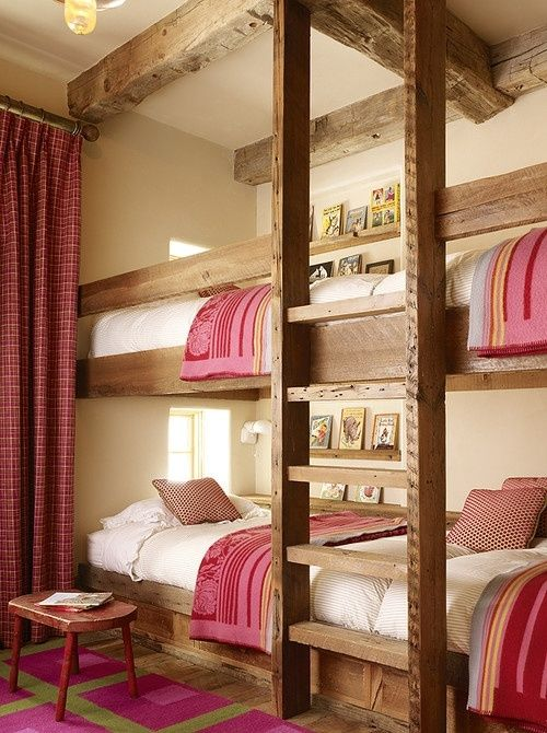 Beautiful bunk bed room. Perfect for teen girls and friends!