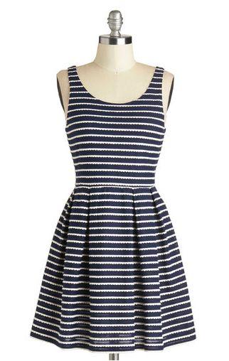 Scalloped dress.