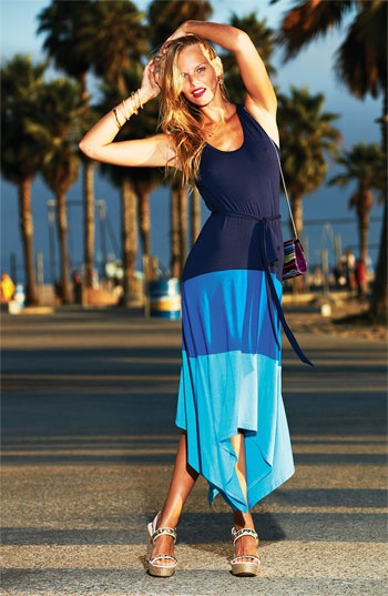 Beach Getaway Essential: Colorblock Maxi #Nordstrom