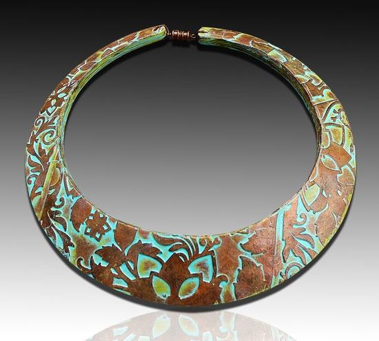 Adriana Allen - Flower maze polymer clay signature bib necklace via Etsy.