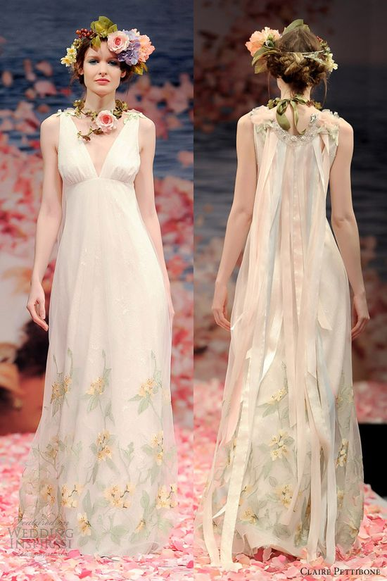 claire pettibone wedding dresses spring 2013 aria sleeveless gown ribbon back