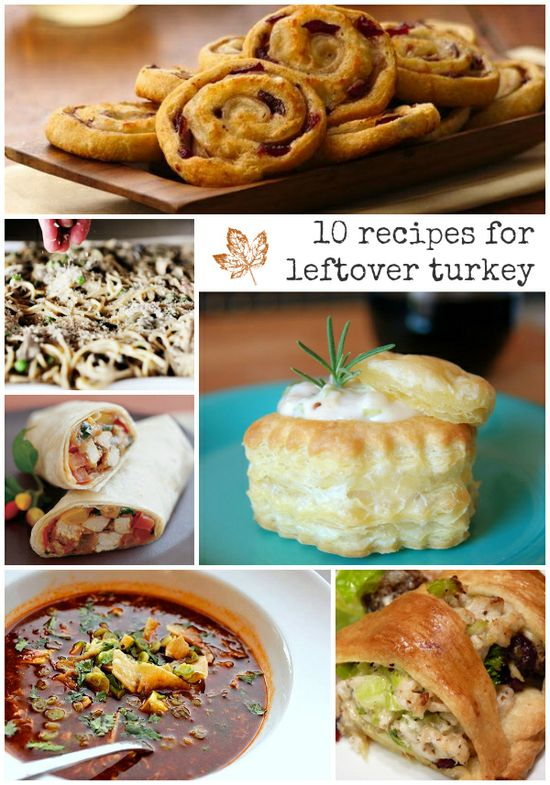 10 Recipes for Holiday Turkey Leftovers! #food #recipe #turkey