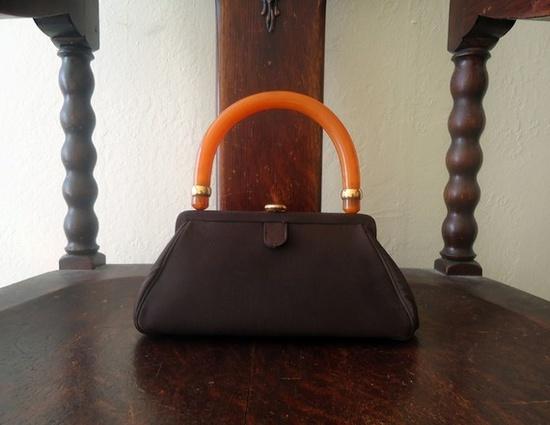 1940s bakelite handle handbag gorgeous 40s purse