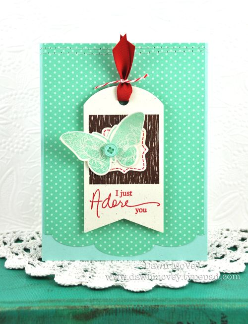 I Just Adore You Card by Dawn McVey for Papertrey Ink (July 2012)