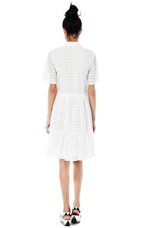 White Cotton Dress by MSGM