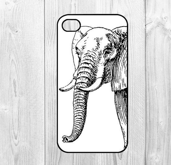 Elephant iphone 4 case iphone case 4s case 4 case -  Elephant Paint Painting  for iphone 4 iphone 4s case iphone cover