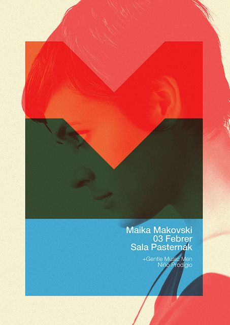 Maika Makovski Poster by MARIN DSGN #graphic #design