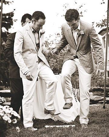 Martha Stewart's first same sex wedding.