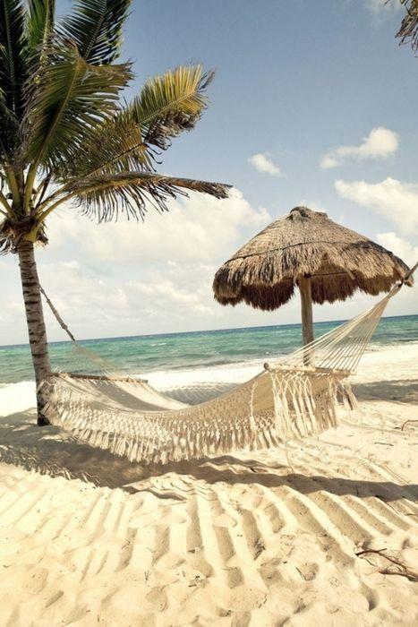 Hammock on the beach...heaven