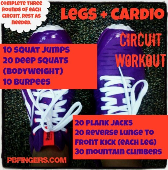 Legs + Cardio Circuit Workout!