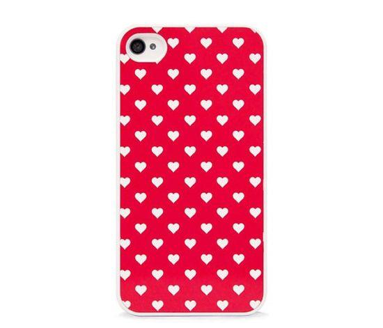 Polka Hearts iPhone Case