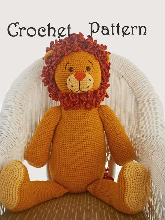 Amigurumi Pattern for Crochet Toy of Giant Lion