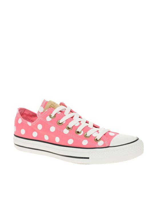 Pink polka dot Converse