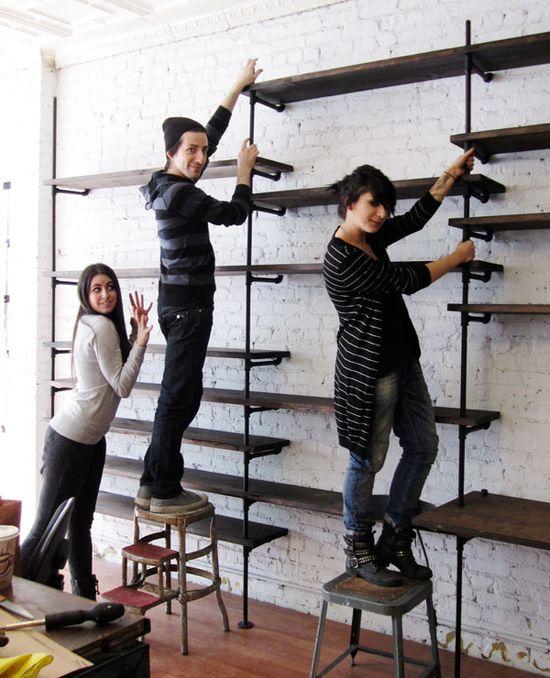 pipe shelving