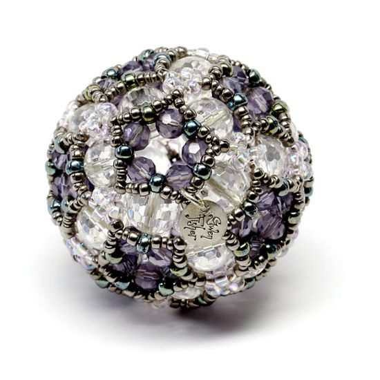 Gwen Fisher - Icosahedral Cluster -- Beaded Art Object Sculpture Paper Weight. $125.00, via Etsy.