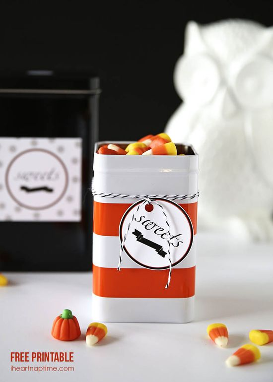 Sweets FREE Halloween Printable from @Jalyn {iheartnaptime.net}
