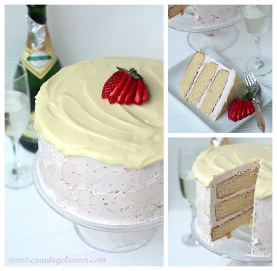 Strawberries and Champagne Cake - www.countrycleave...