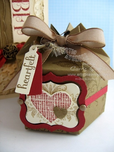 6 sided box from Milk Carton die...so cute for cookies or candy