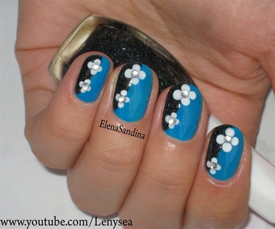 Winter Flowers - Nail Art Gallery nailartgallery.na... by NAILS Magazine nailsmag.com #nailart