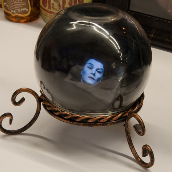 DIY crystal ball made with a smart phone. Couldn't be simpler. Or spookier.