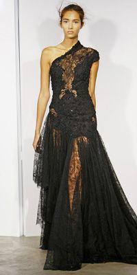 Marchesa black lace @}-,-;--