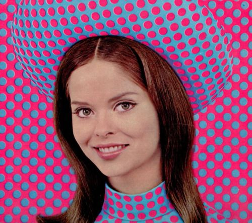 barbara bach in polka dots, 1960s