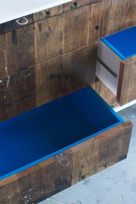 #wood #cobalt #blue #interior #design #kitchen #decor