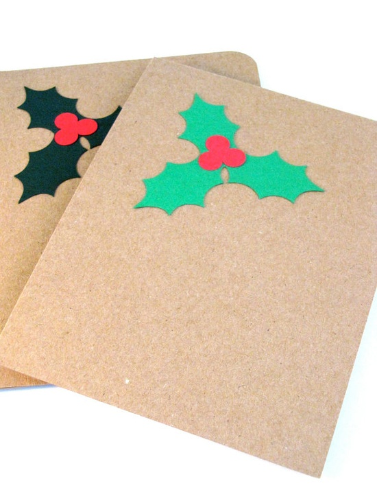 Cute idea for handmade Christmas cards.