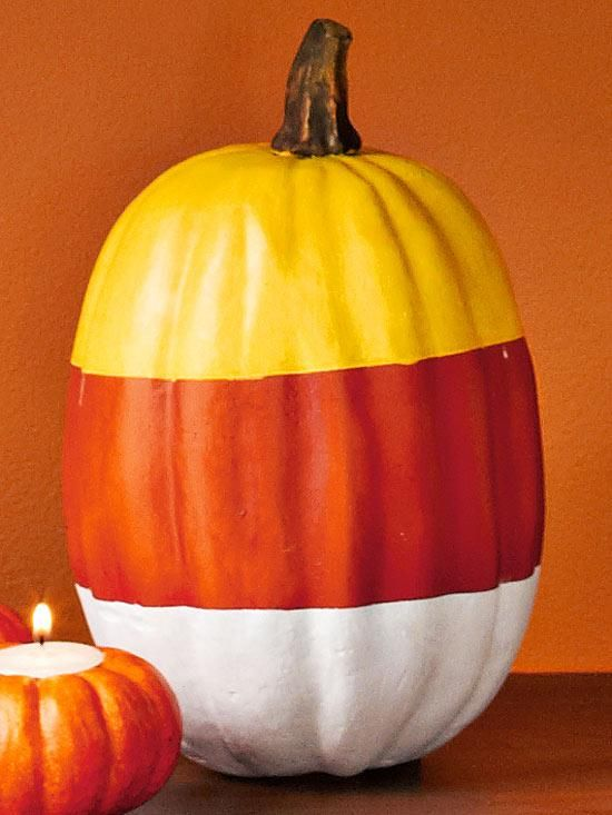 A candy corn pumpkin!