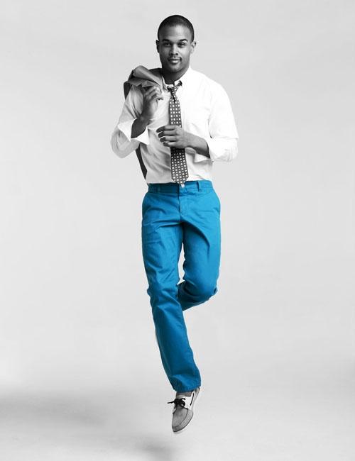 Blue pants!