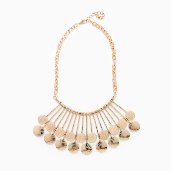 gold space age necklace