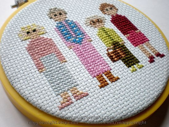 Golden Girls cross stitch!