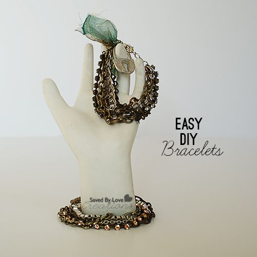 Make Easy Chain Bracelets in 10 minutes #jewelrymaking @savedbyloves