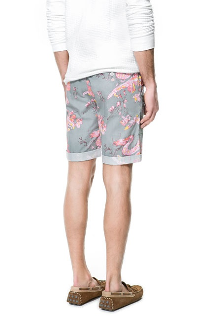 ORIENTAL PRINTED BERMUDA SHORTS from Zara men's fashion summer 2013