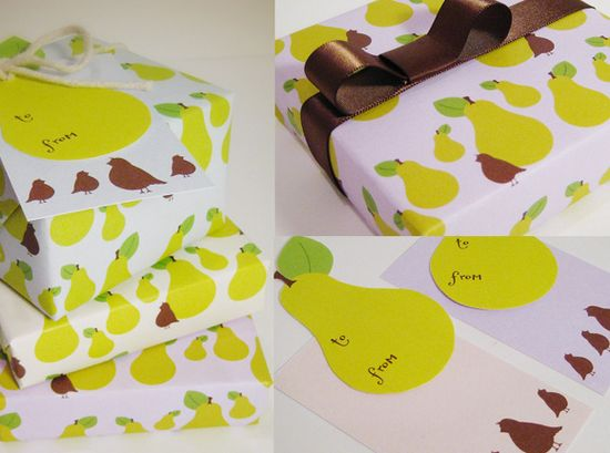 Free Printable: Gift Wrap + Tags by Kellie Medivitz