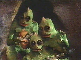 Sleestaks from Saturday mornings' Land of the Lost 1974 - 1977.